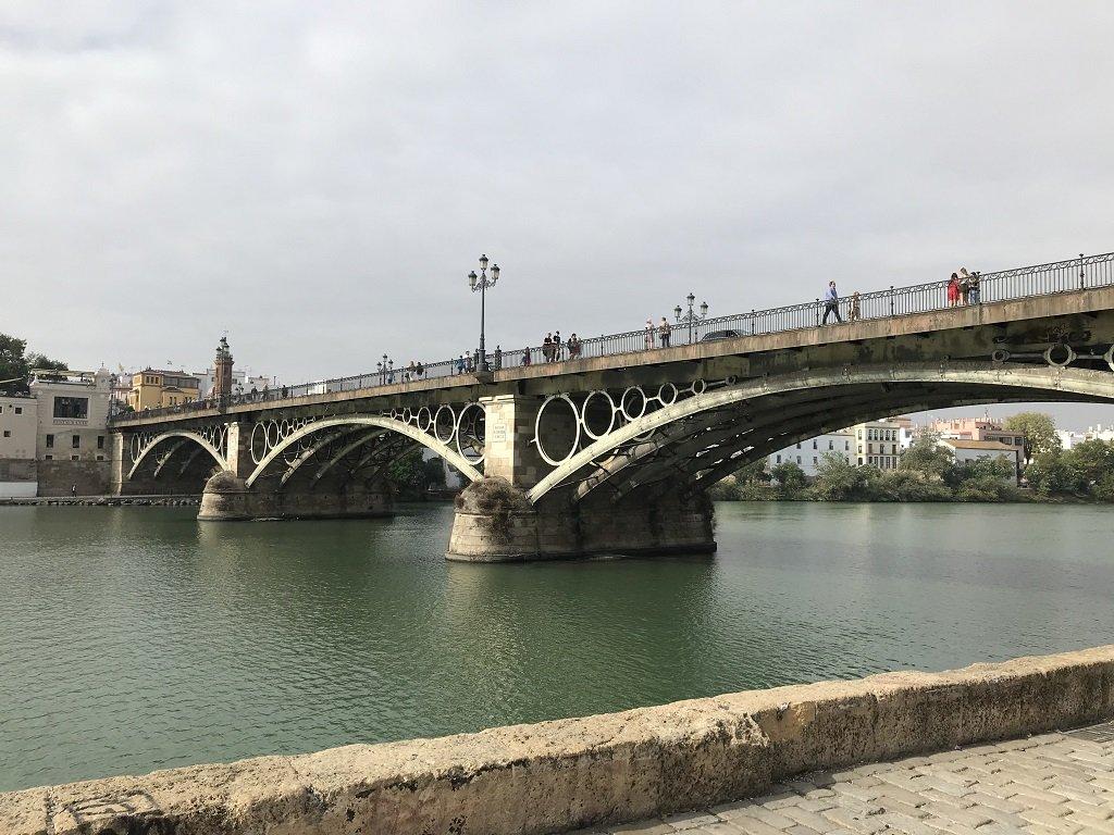 The Triana Bridge linking Seville to Triana