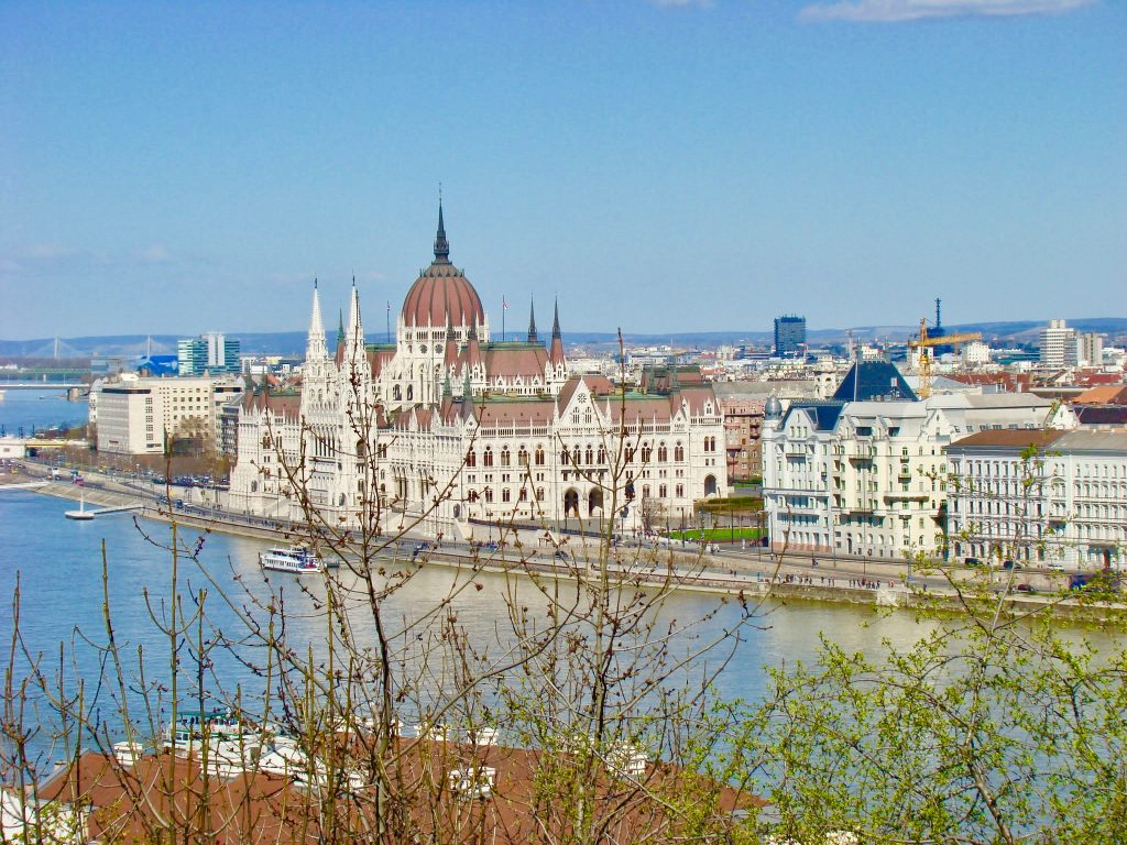 A view of Budapest parliament and the Danube river