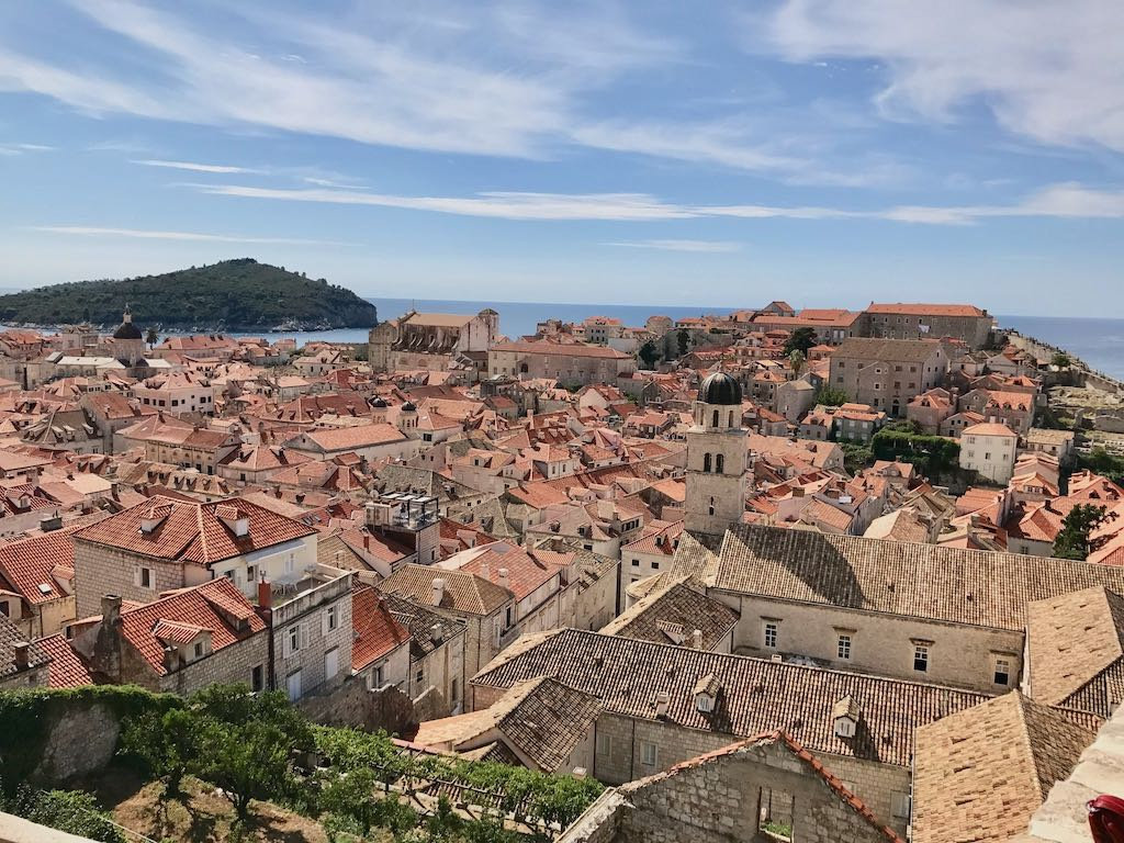 Visit Dubrovnik on a European Break and see the red rooftops