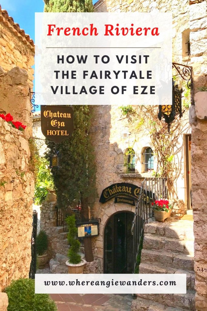 pinterest Graphic of the village of Eze