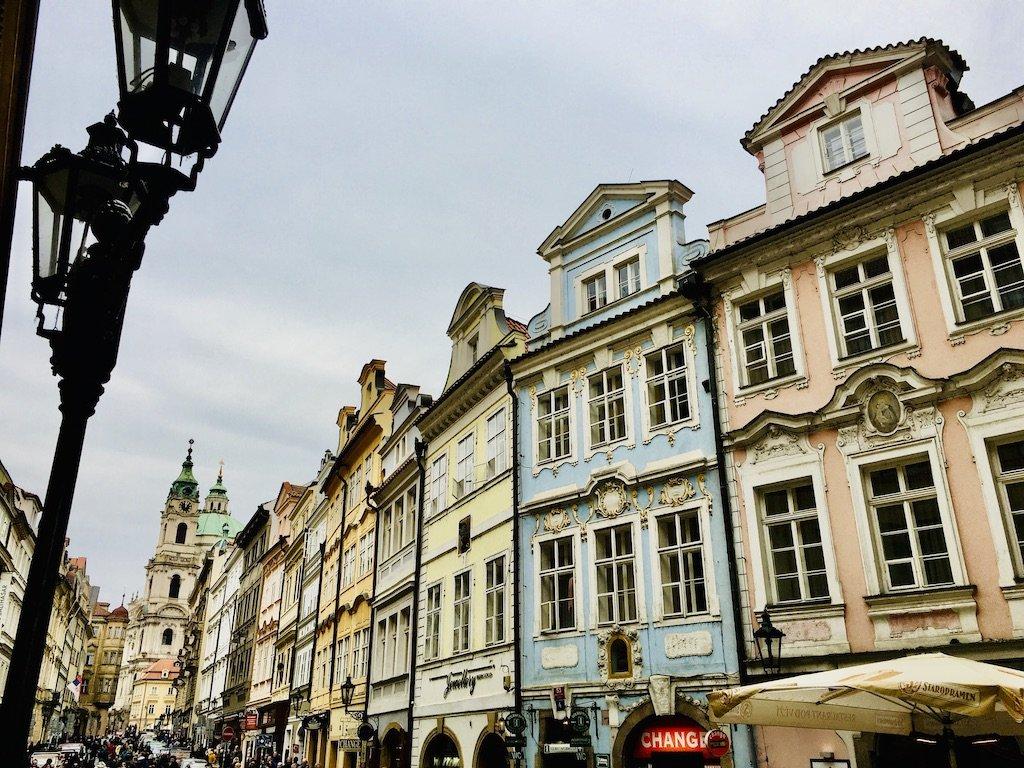 Mala Strana Pastel Buildings Prague
