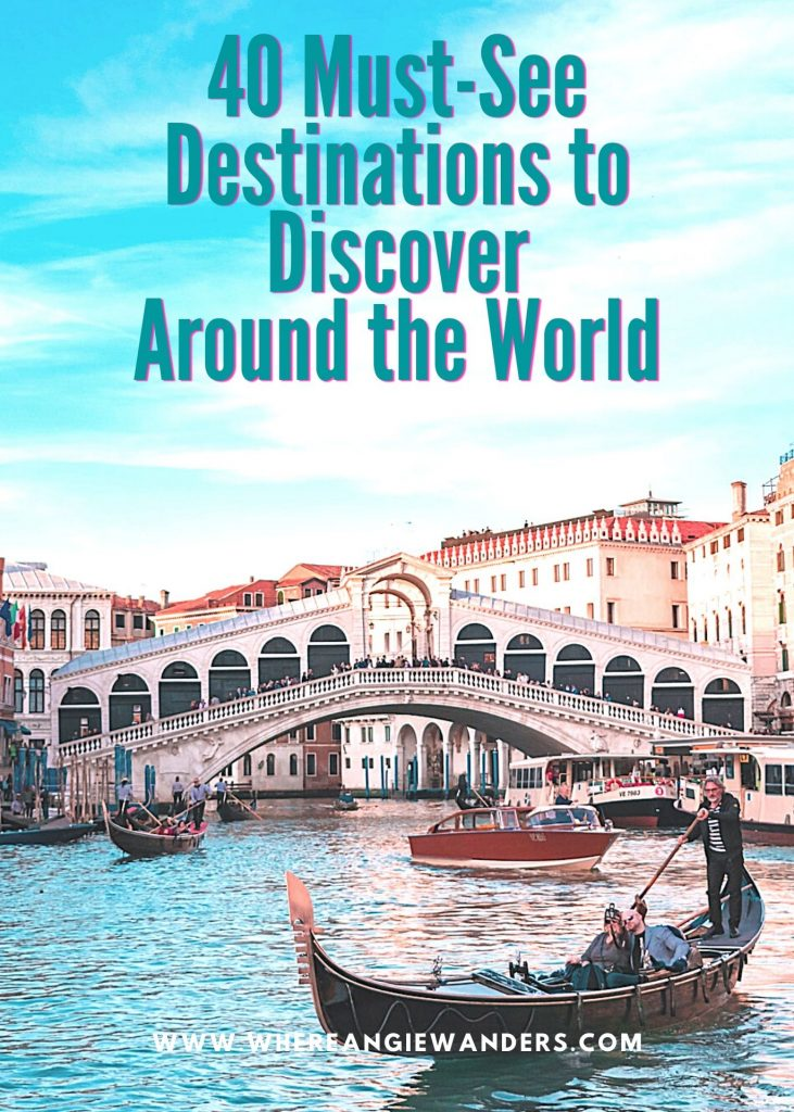 Pinterest Graphic showing the Rialto Bridge in Venice