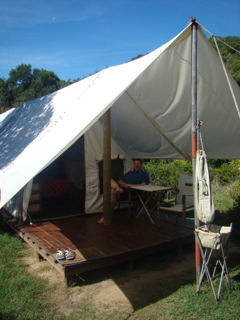 Tent at Quartermains