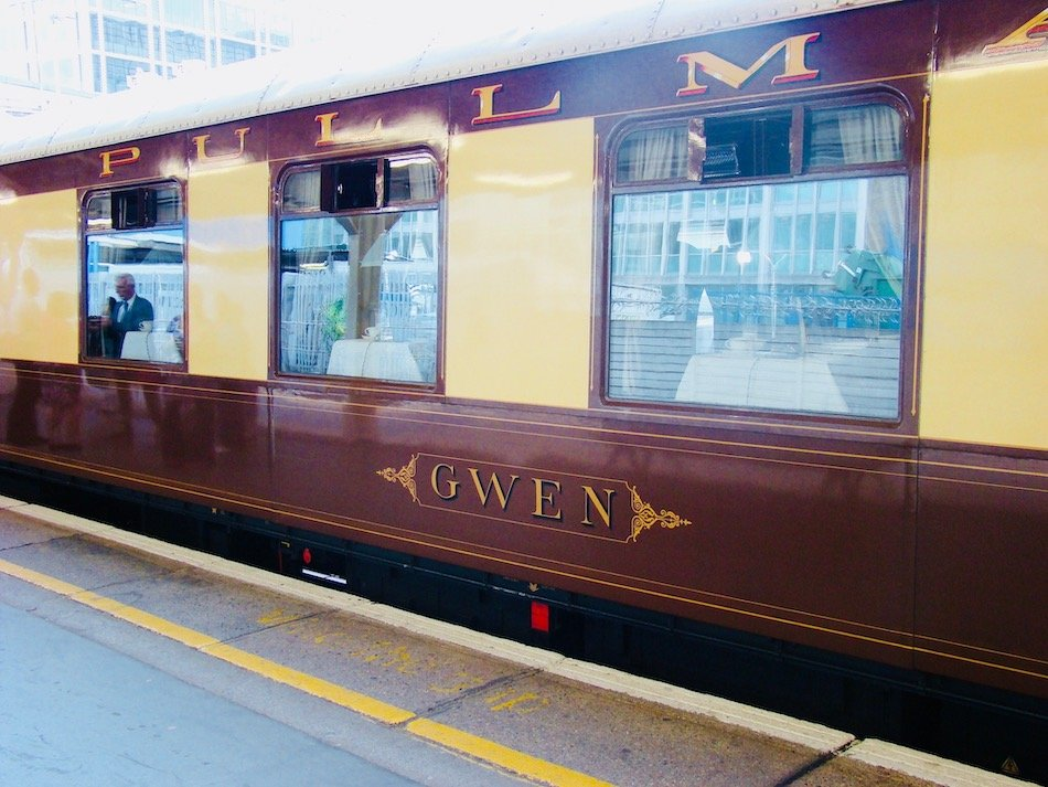 Train carriage named Gwen