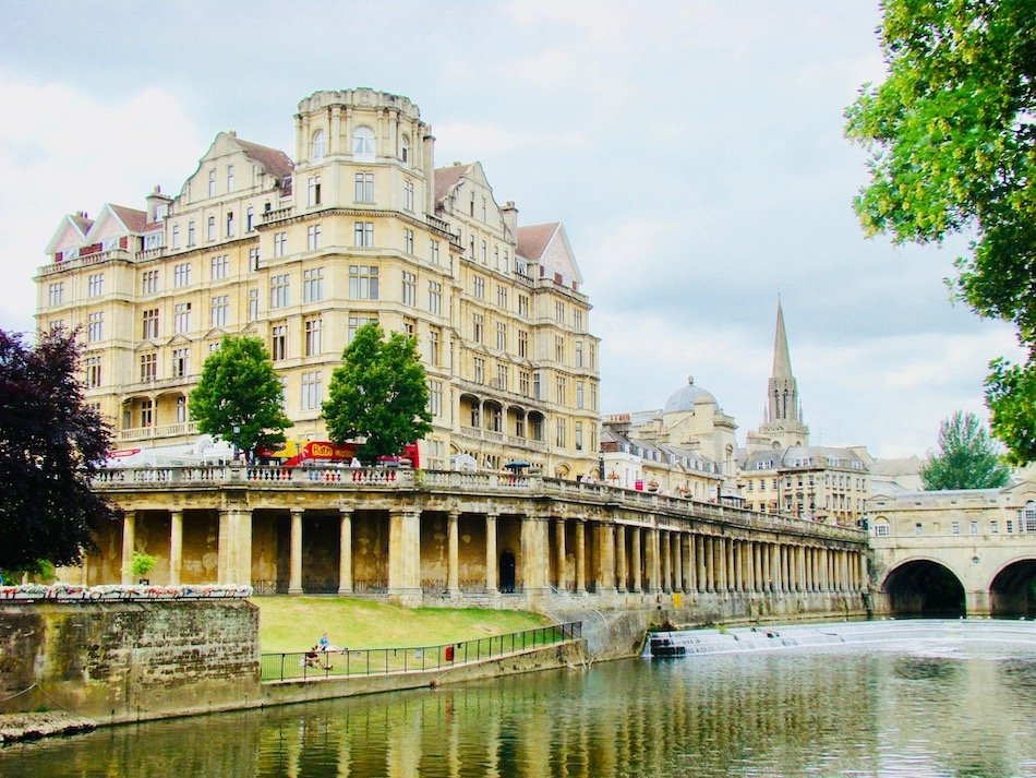 A grand hotel on the bans of a river