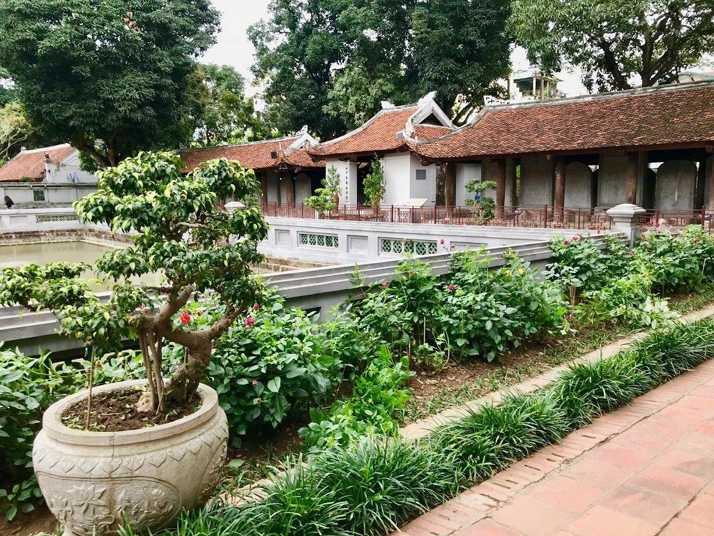 Photo of the Temple of Literature in Hanoi