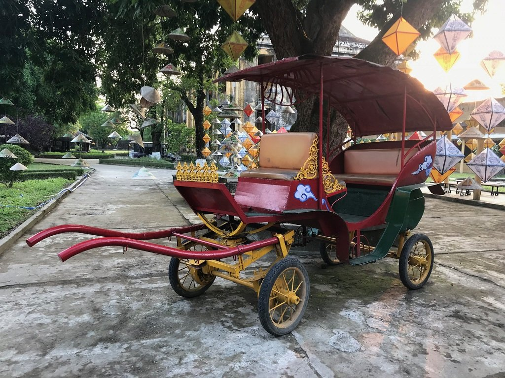 An ancient trishaw in Hue