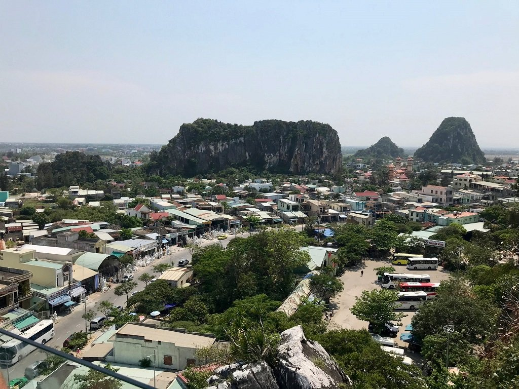 View from Marble mountain over Danang