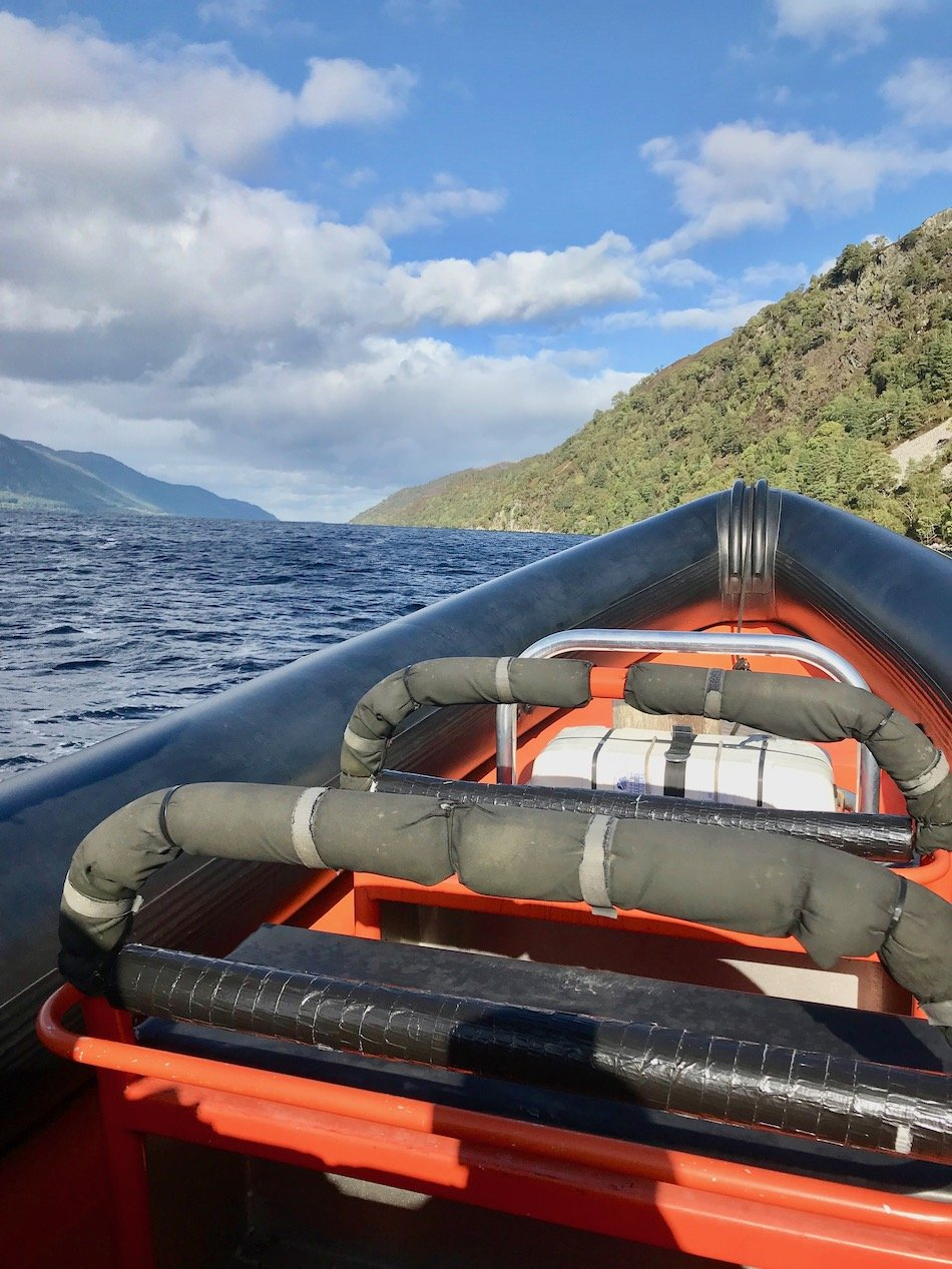 Front of the rib on Loch Ness