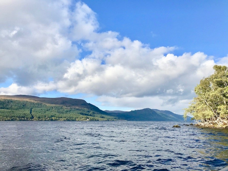 Loch Ness viewed from the water