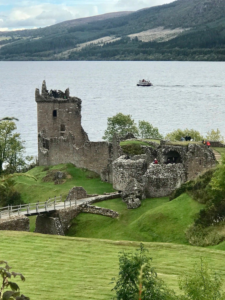 Urquhart Castle viewed from the roadside