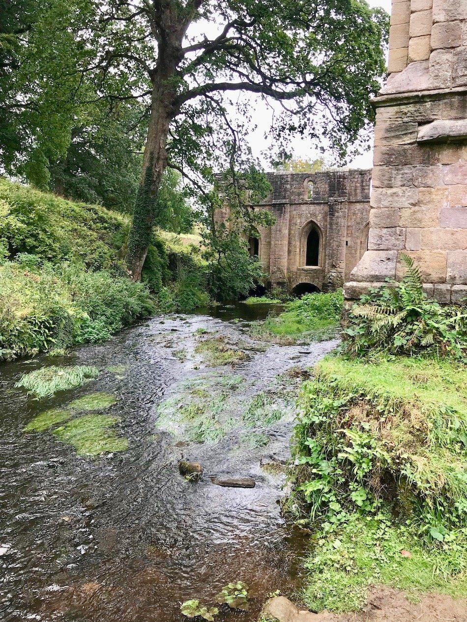River running beside the ruins