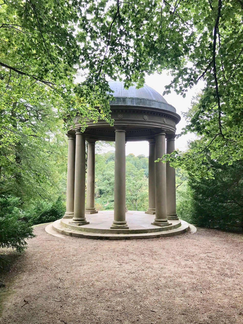 Temple of Fame in the grounds of Fountains Abbey