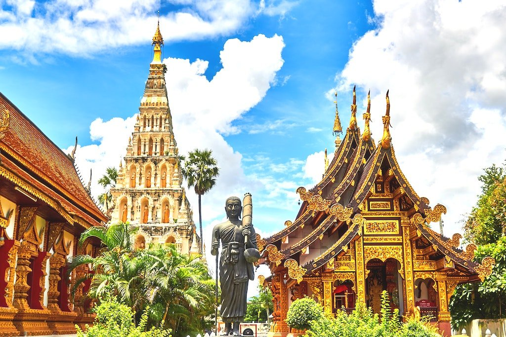 Temples and Statue in Thailand
