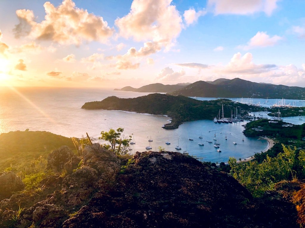 Aerial View of English Harbour Antigua