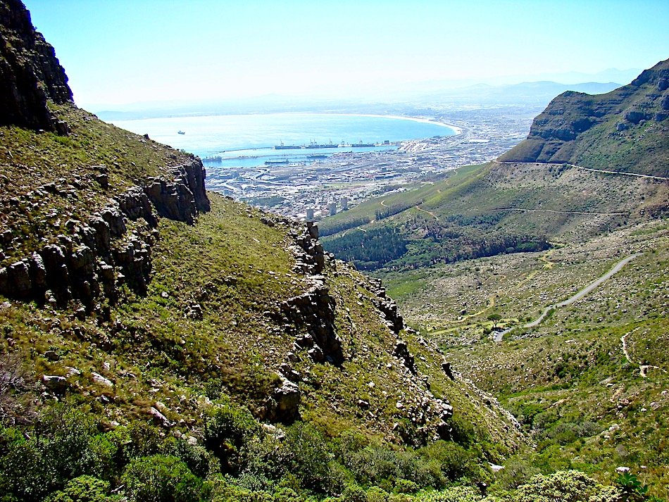 View down from Table Mountain