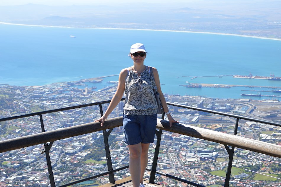 viewing platform on top of Table Mountain