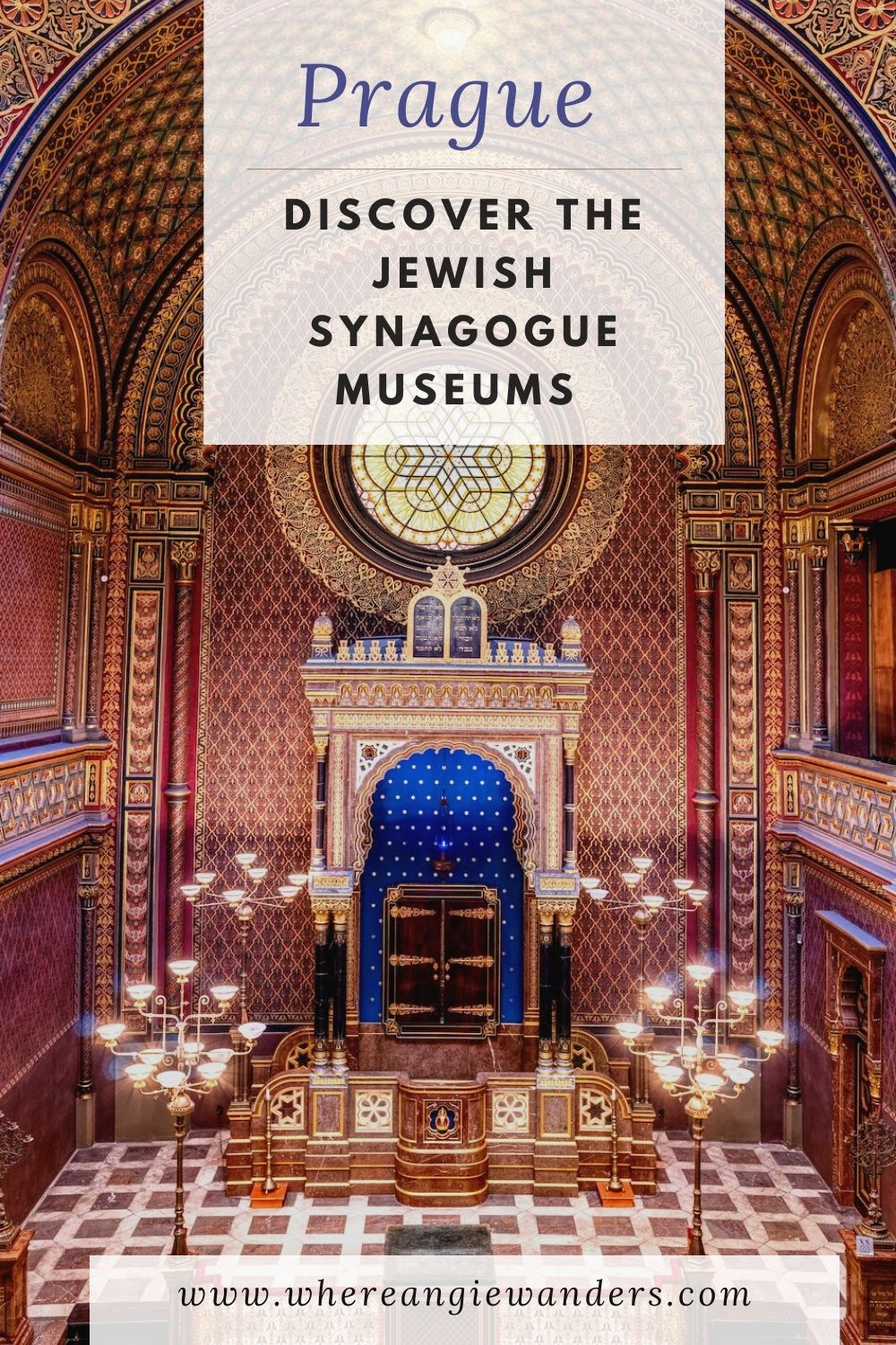 Pinterest Graphic Prague Synagogues