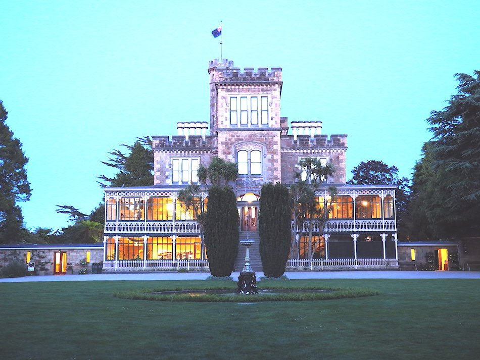 front aspect of Larnach Castle in New Zealand
