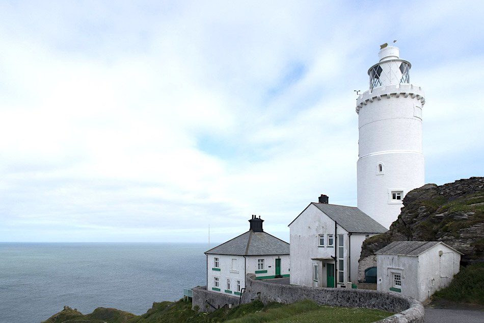 A white lighthouse in the UK