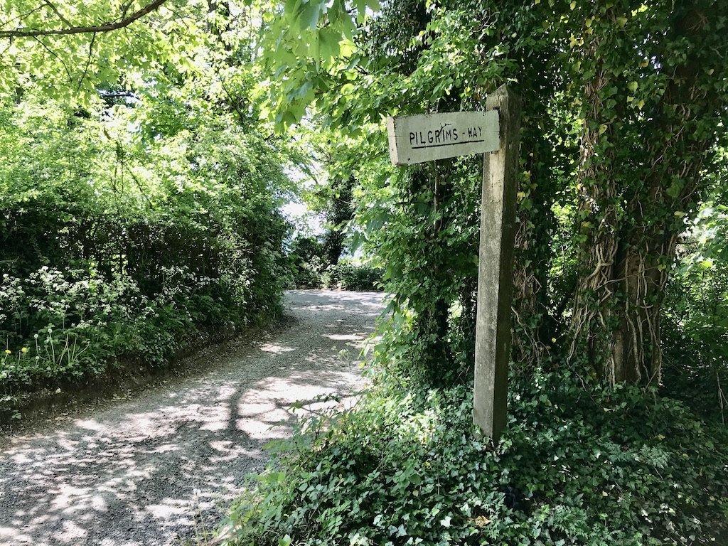 Pilgrims way sign post
