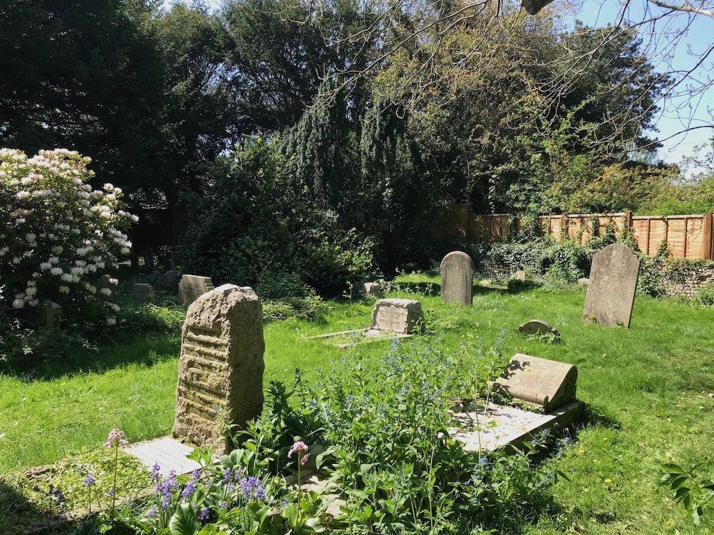 Gravestones in the church garden