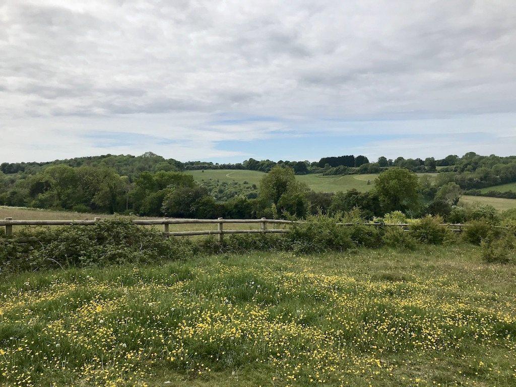 Distant views across fields