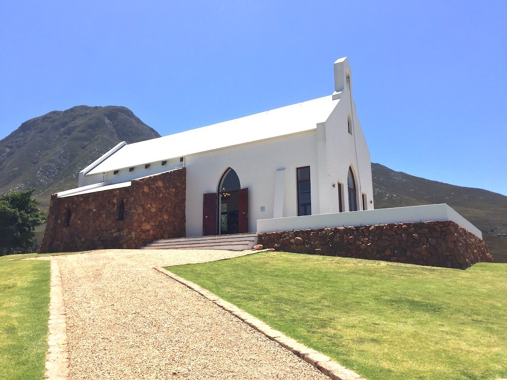 a winery within a white church