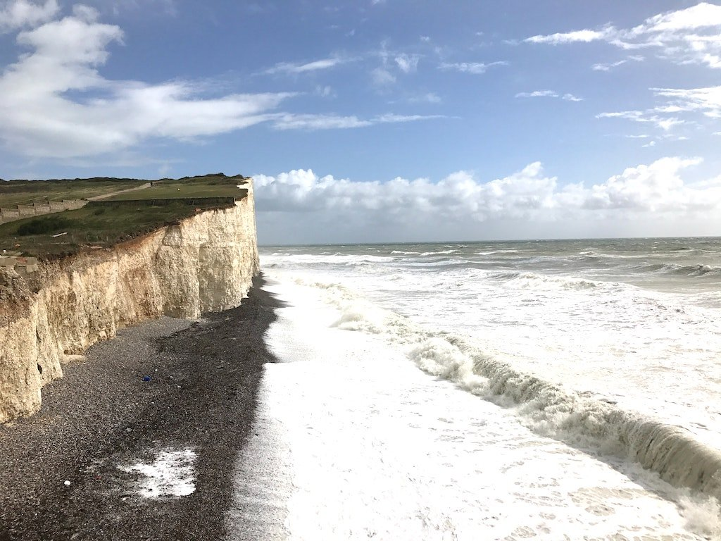 Dramatic view of UK coastal walks on the South Downs