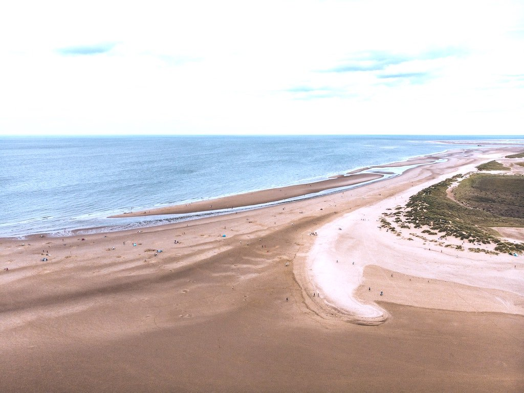 Sandy Beach UK coastal walks in North Norfolk