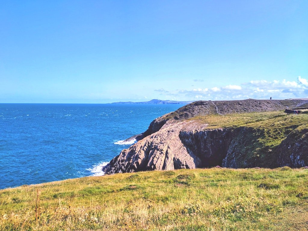 view out to the most dramatic Pembrokeshire coastal walk