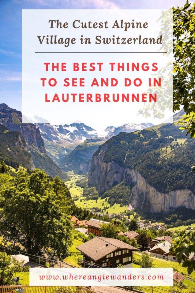 Pinterest Graphic Lauterbrunnen