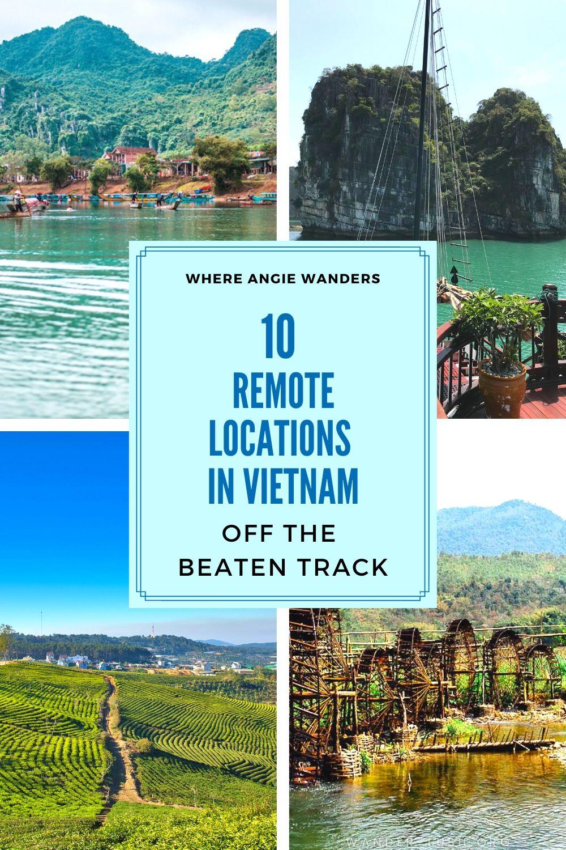 Pinterest Graphic 3 showing Vietnam scenery