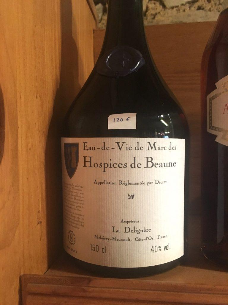 A bottle of vintage Burgundy wine
