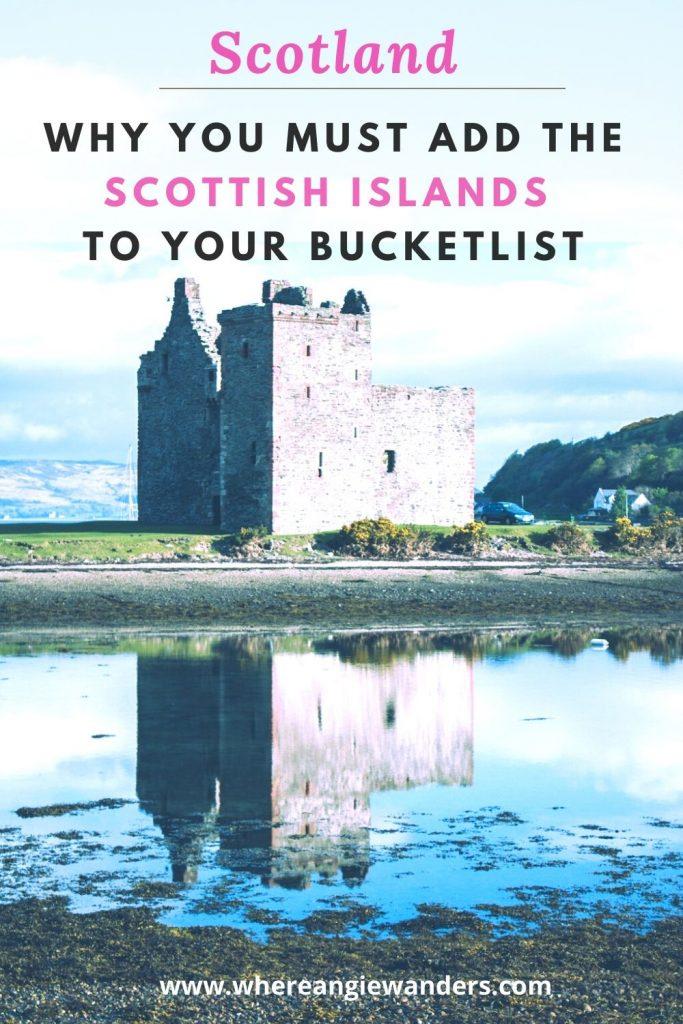 Pinterest Graphic Bucket list Scottish islands