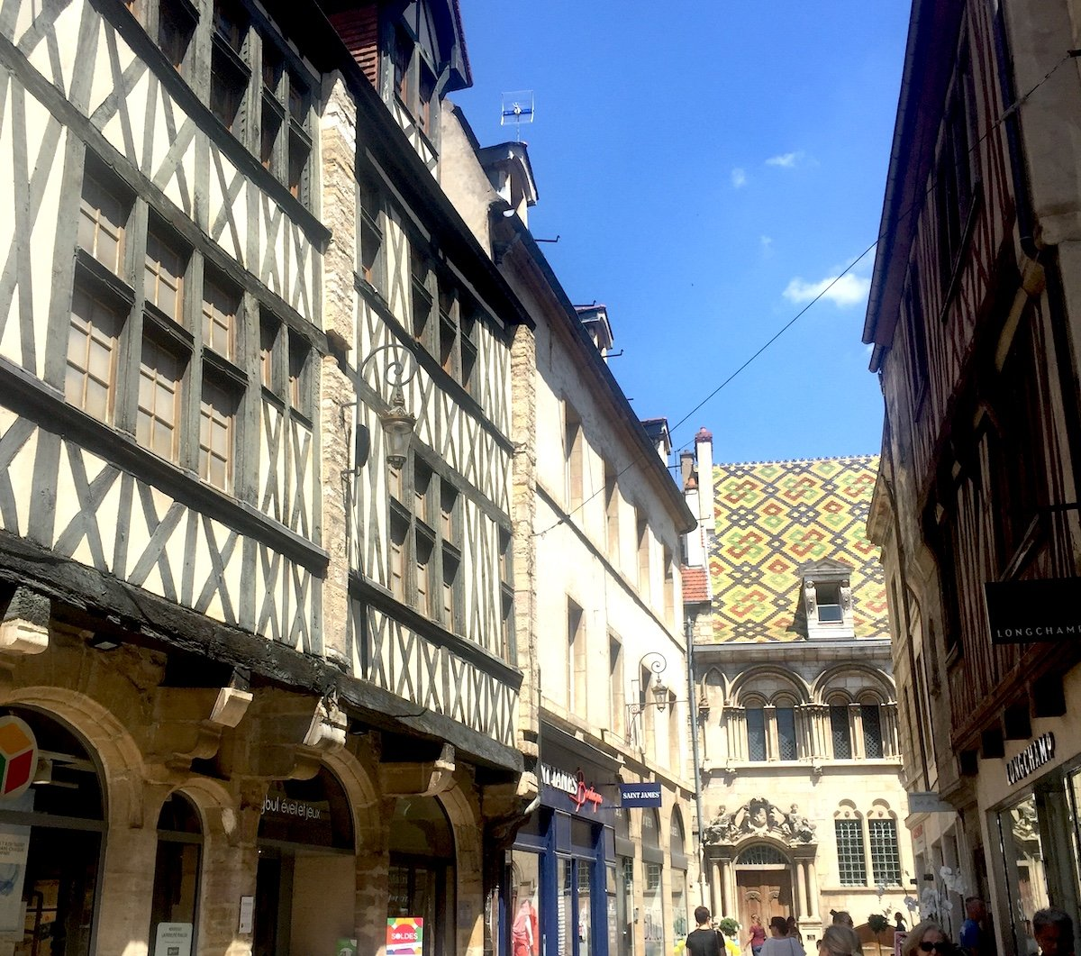 Medieval Timbered Buildings in Dijon