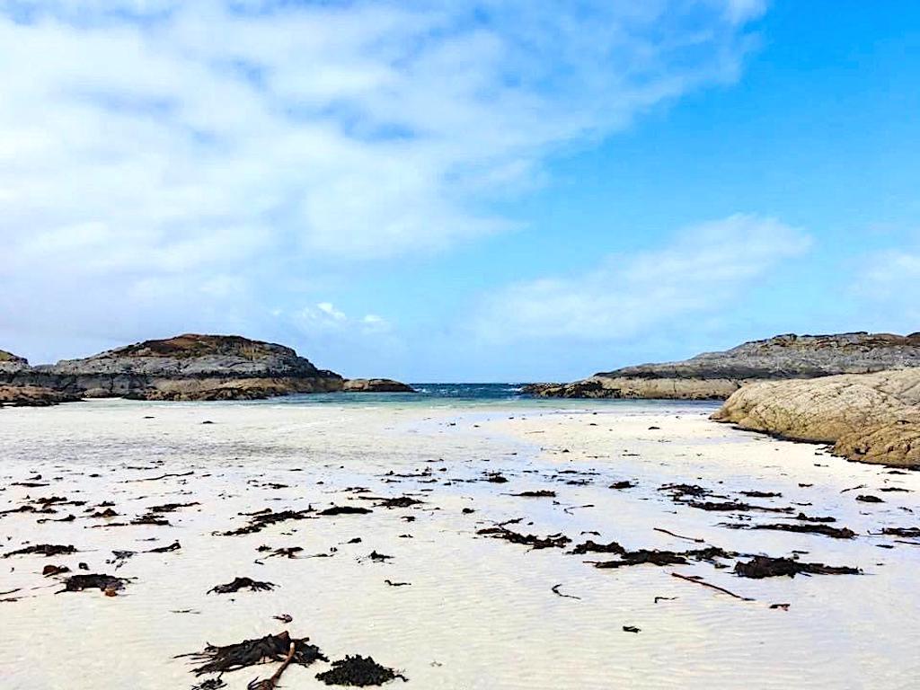 Beach view on Eilean Shona Island