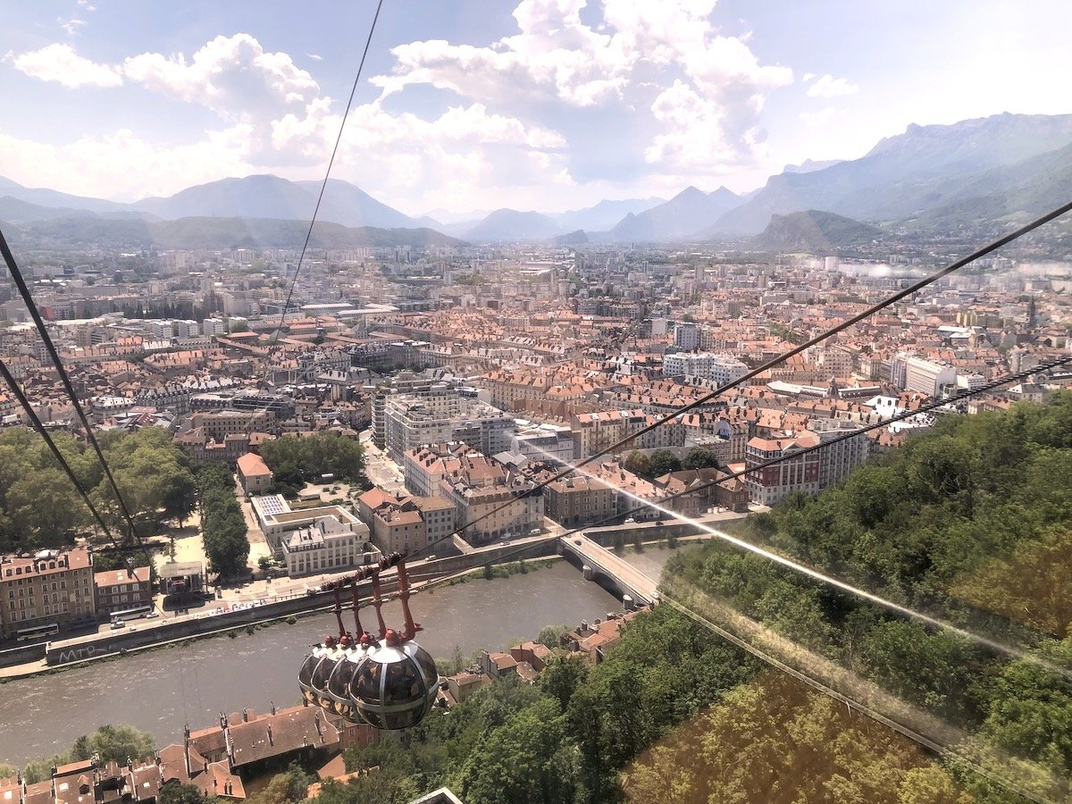 View over the city of Grenoble in Eastern France