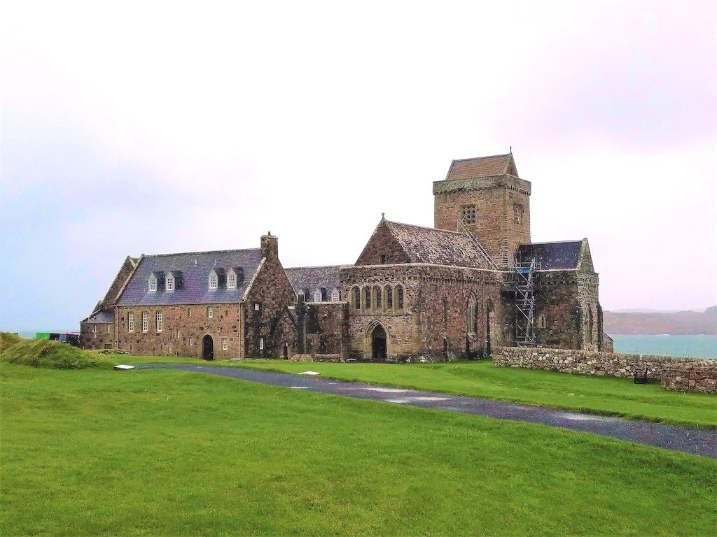 View of Iona Abbey in the Hebrides
