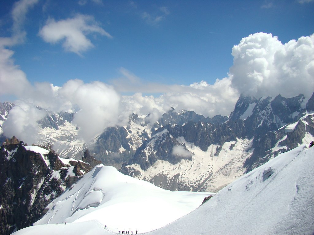 Aguille du Midi in Eastern France