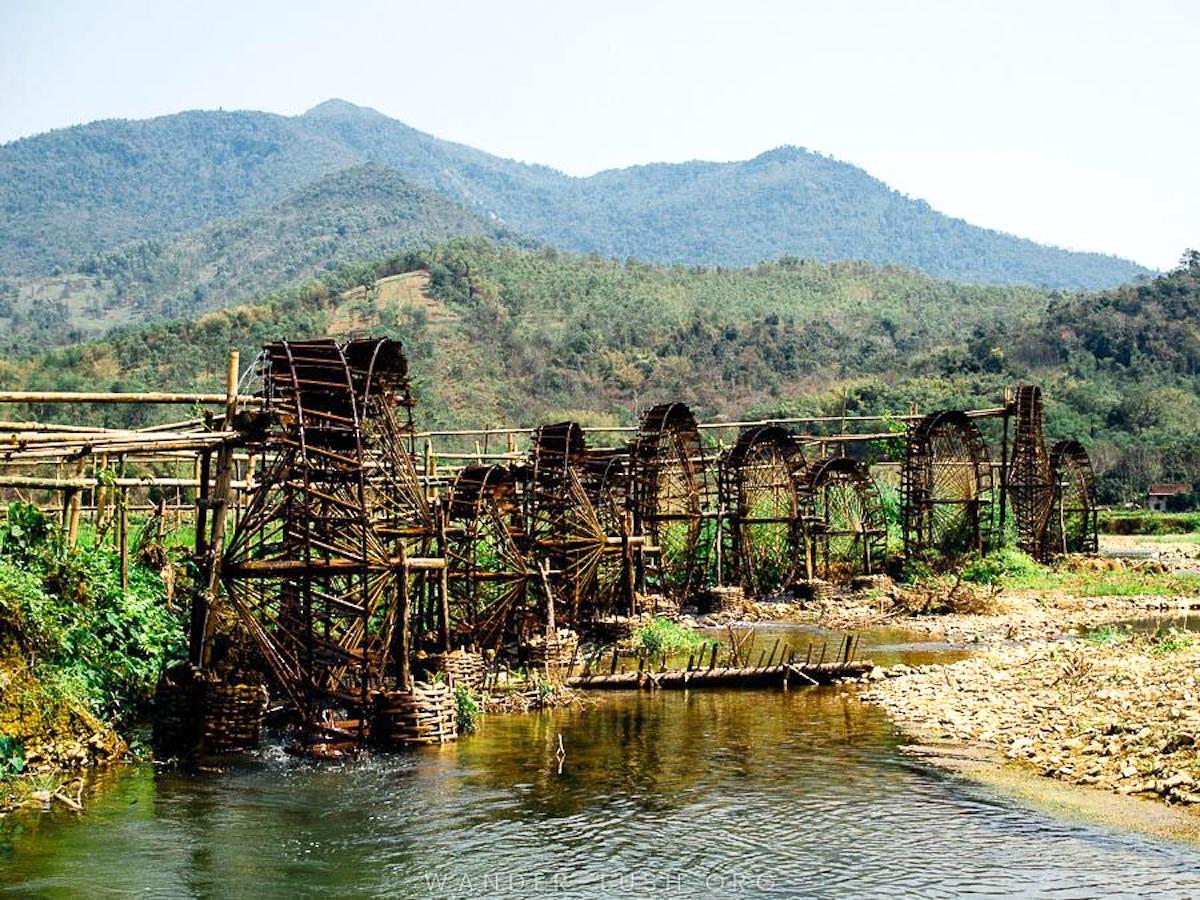 Bamboo Watermills in Pu Luong