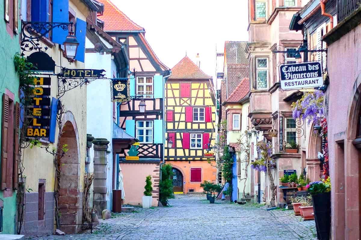 Colourful Buildings in Riquewihr