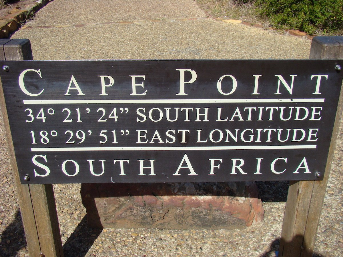 Wooden Sign Cape Point with compass points