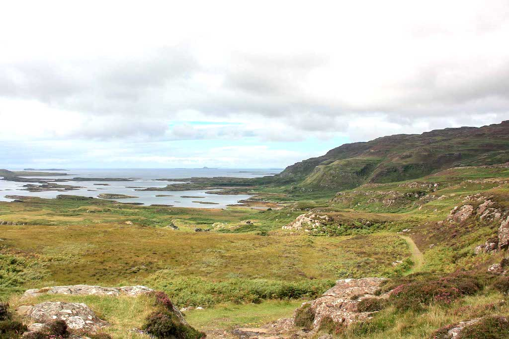 Landscape view of the isle of Ulva