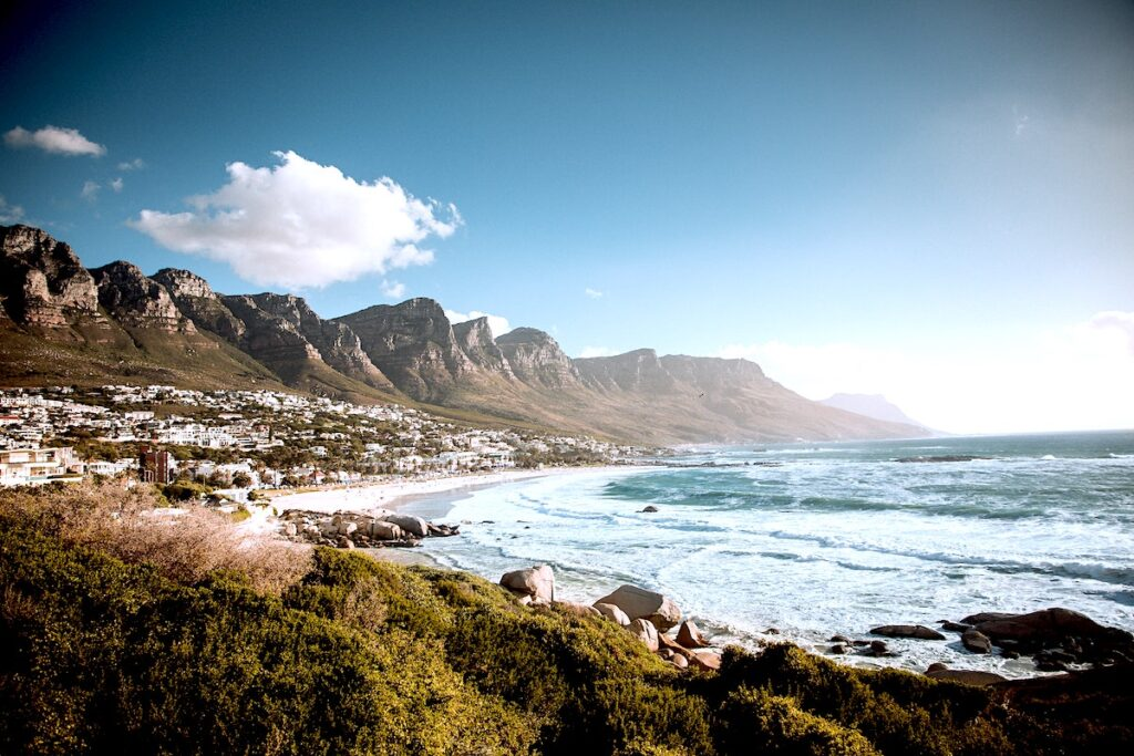 camps bay and the twelve apostles mountain range