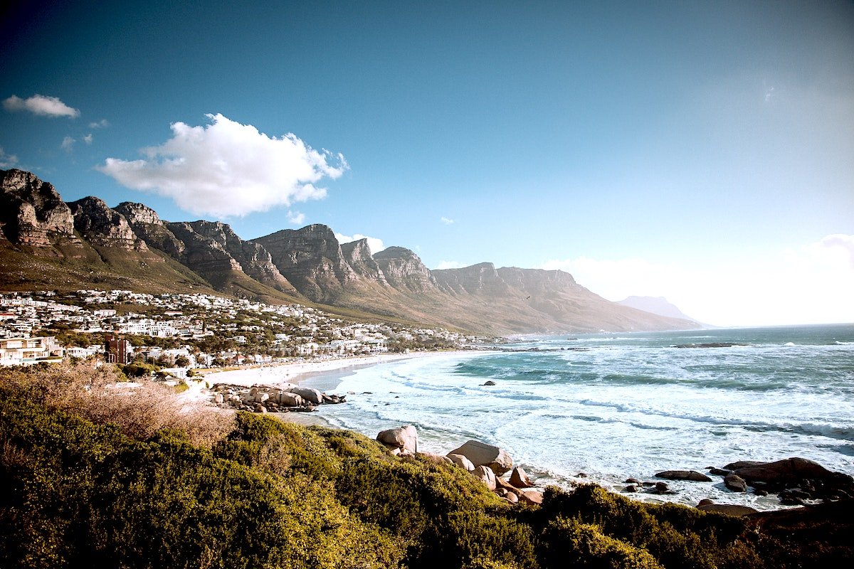 view of camps bay and the twelve apostles mountain range