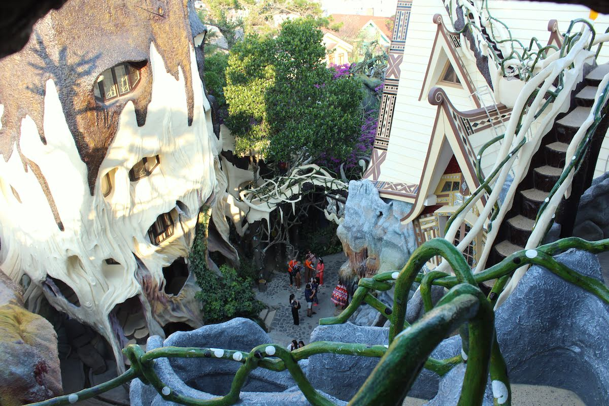 a view of the crazy house in Dalat