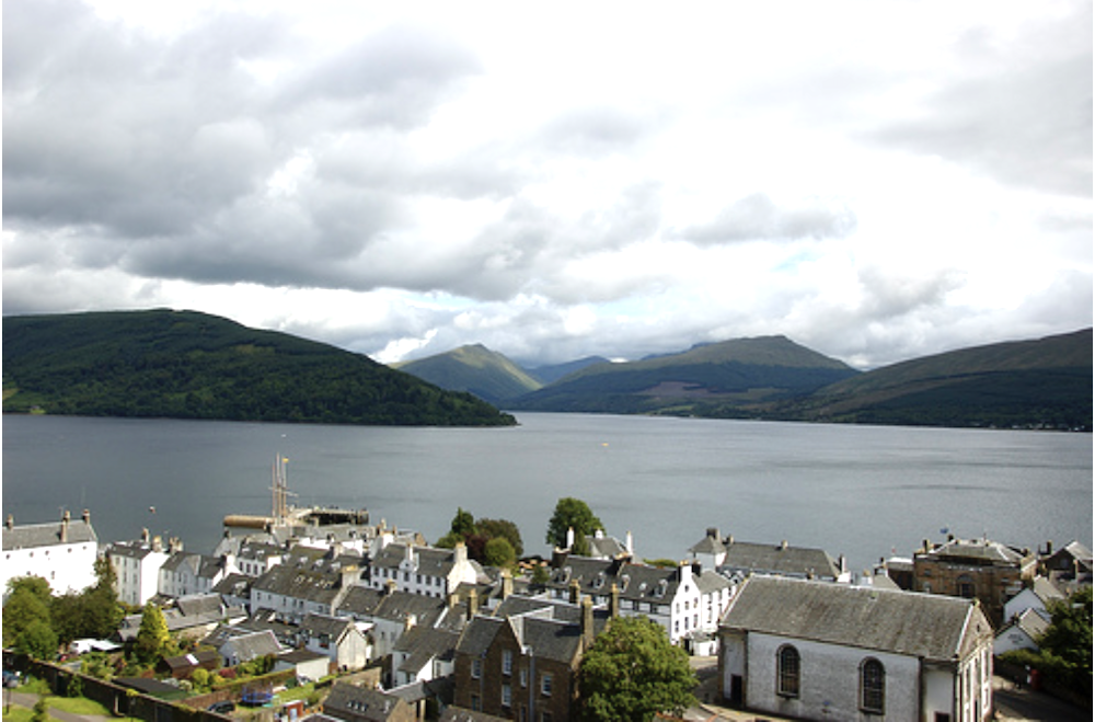 View to Loch Fyne from Inveraray bell tower