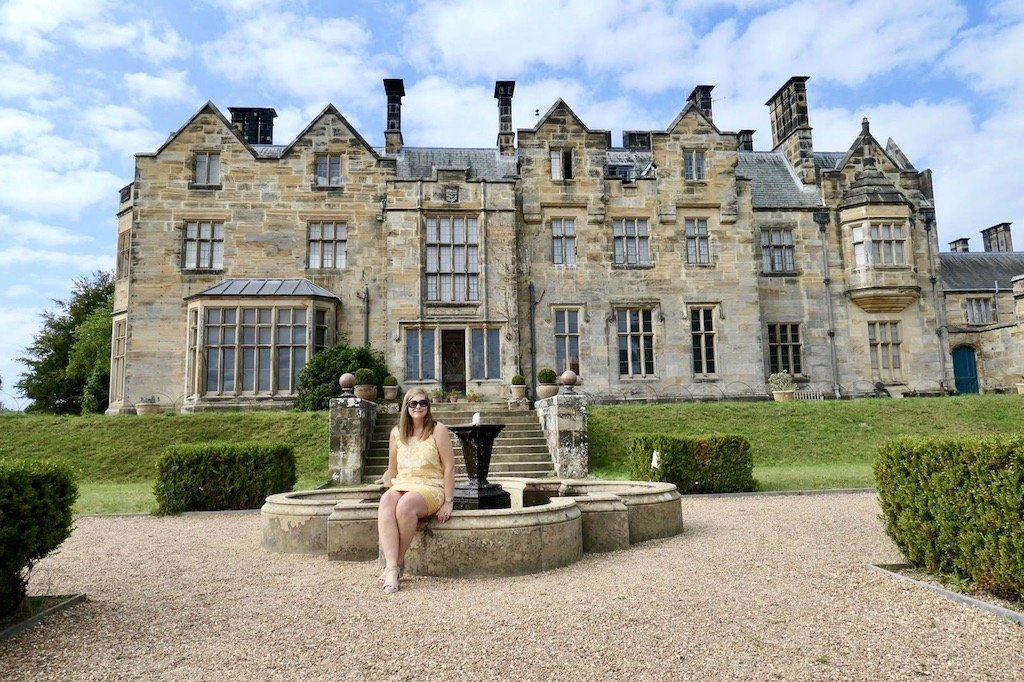 Angie in front of the Manor House