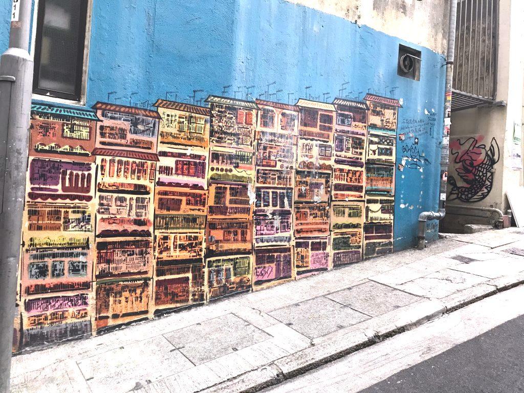 tenement building urban art